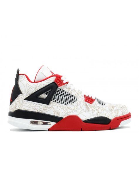 first rate 4e5c8 de142 Air Jordan 4 Retro Laser White Varsity Red Black 308497 161