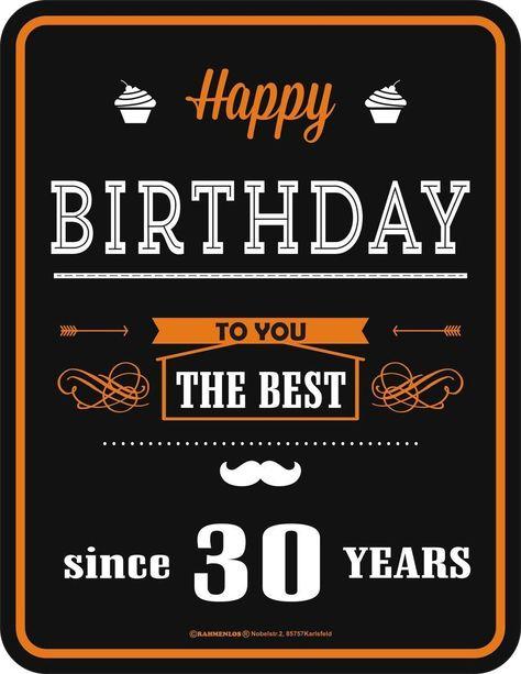 Happy Birthday 30 Blechschild Geburtstags Wunsche Lustig