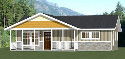 36x24 House 2 Bedroom 1 Bath 864 Sq Ft Pdf Floor Plan Model 2 House Floor Plans Shed Plans