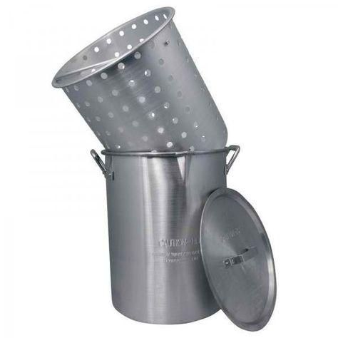 Campfire Aluminium Stockpot & Deep Basket 30L