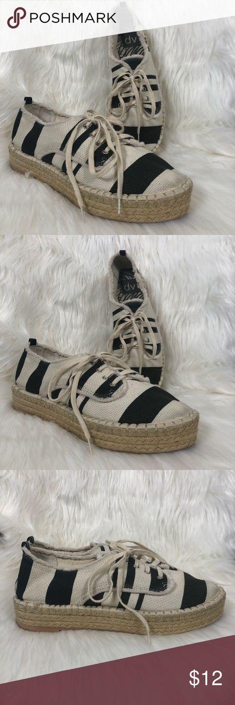 16650043d5fc DV Black   Natural Stripe Woven Espadrille Sneaker On trend black and cream  white woven espadrille