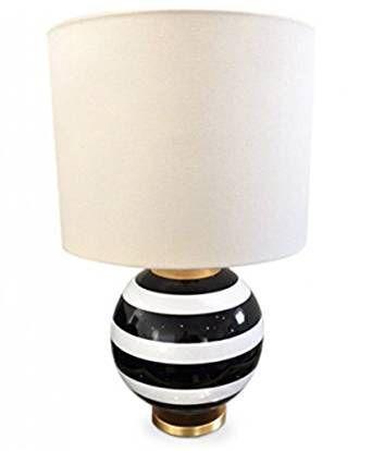 Kate Spade Elsie Table Lamp Black White Stripe 22 Black Lamps