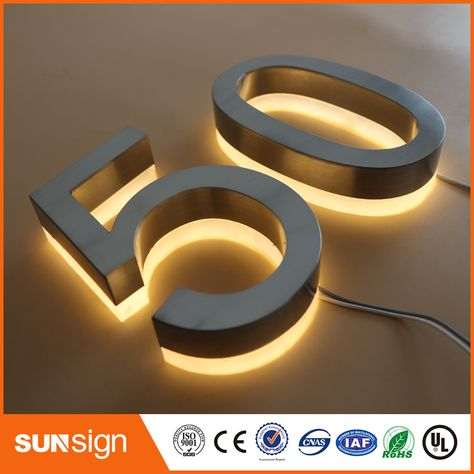 Custom Led Illuminated House Numbers And Letters Sign In