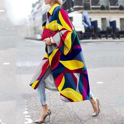 Fashion Botanical Print Coat – Pearlzilla