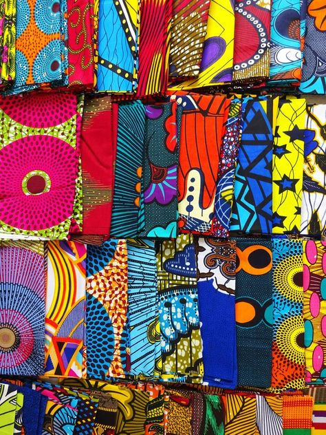 African fabric craft set of 10 different 8x22 African | Etsy