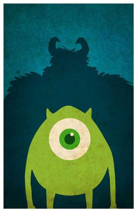 Disney Pixar movie poster - Monsters Inc