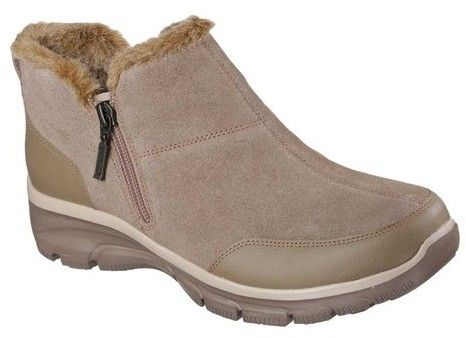 Skechers Women S Relaxed Fit Easy Going Zip It Cold Weather Bootie