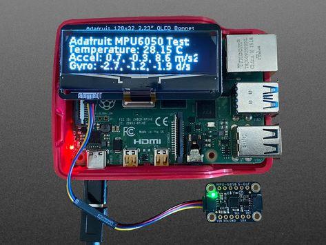 Adafruit 2.23 Monochrome OLED Bonnet for Raspberry Pi ID: 4567 - $22.50 : Adafruit Industries, Unique  fun DIY electronics and kits