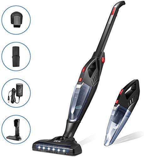 Amazing Offer On Cordless Vacuum Deik Stick Vacuum Cleaner 13kpa Lightweight 2 1 Handheld Vacuum Rechargeable Lithium Ion Battery Led Brush Floor Carpet Pet Hair Up 60 Mins Online In 2020