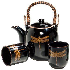 Black Dragonfly Tea Set