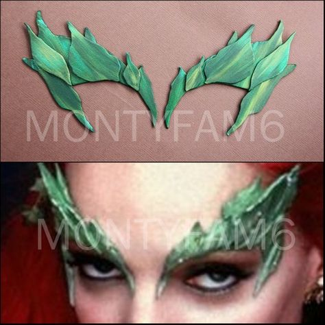 Poison Ivy Leaves Eyebrow Eye mask Cosplay GREEN No Glitter Leaf Uma Thurman ELF fairy Cosplay Comic