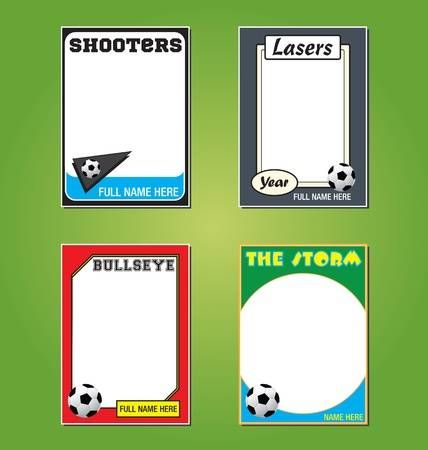 Soccer Futbol Trading Card Picture Frames Trading Card Template Medical Business Card Free Business Card Templates