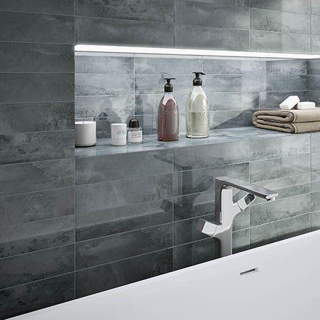 Delta Grey Stone Effect Wall Tiles - 75 X 300mm Grey Wall Tiles, Wall  Tiles, Bathroom Wall Tile