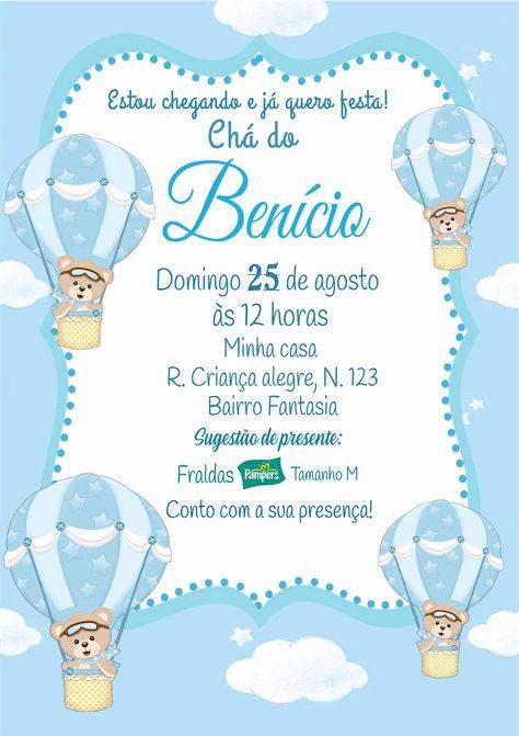 Convite Ursinho Baloeiro DIGITAL