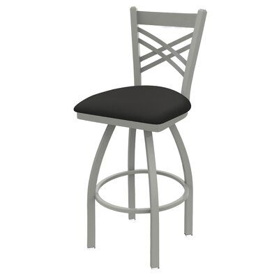 Alcott Hill Daniela Swivel Bar Counter Stool Frame Color Anodized Nickel Seat Color Canter Iron Seat Height Counter Stool 25 Seat Height Bar Stools