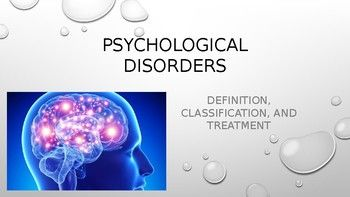 This Download Is For Ppt Slides That Cover A Brief And Generalized Overview Of Psychological Disorders Psychology Disorders Psychology Psychology Experiments