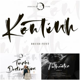 Kontinth Brush Font Brush Font Free Fonts Download Fonts