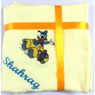 Donald in Car Personalized Kids Blanket