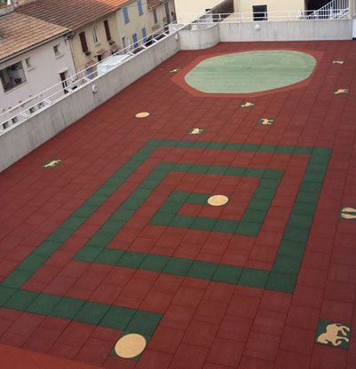 Dalle Amortissante Hexdalle Xe Rouge 25 Mm Pour Aires De Jeux Pour Enfants Aire De Jeux Aire De Jeu Enfant Jeux Enfants