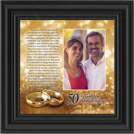 Bands Of Gold Personalized 50th Wedding Anniversary Gift Picture Frame 10x10 6314 Weddingph With Images Wedding Picture Frames 50th Wedding 50 Wedding Anniversary Gifts