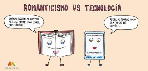 La batalla entre los libros tradicionales y los lectores de #eBook. ¿Cuál preferís? ;) #humor #tecnologia #caricatura