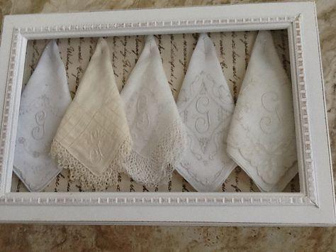 displaying handkerchiefs   Share