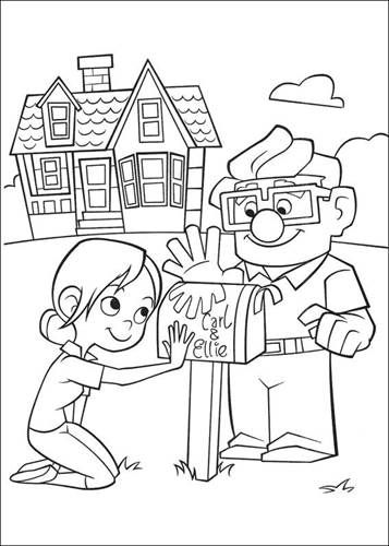 Coloring Page Up Up Cartoon Coloring Pages Disney Coloring