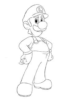 How To Draw Luigi Draw Central Super Mario Coloring Pages Cartoon Coloring Pages Coloring Pages