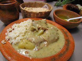 Pollo en crema has to among top ten typical dishes of