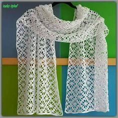 Uitgelezene Gratis haakpatroon rechte sjaal. | Haken, Gehaakte kanten sjaal GP-65