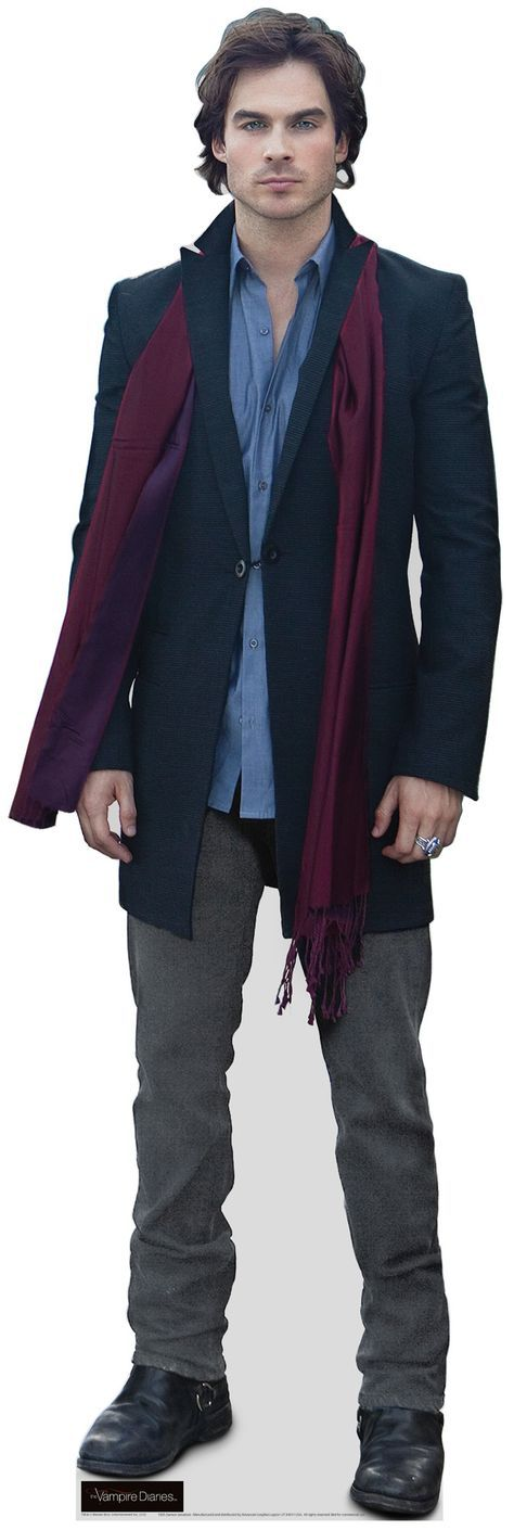 Life Size Cutout Sam Heughan Burgundy Suit