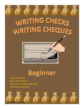 Writing Checks Writing Cheques Beginner Distance Learning Writing Checks Writing Worksheets Math Methods
