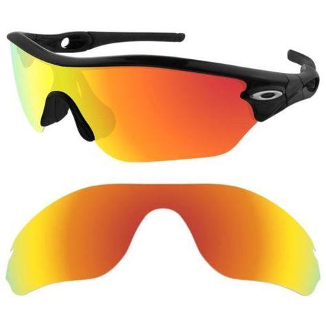 Maven Polarized Fire-Red Replacement Lenses for Oakley Radar Edge Sunglasses