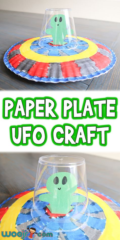 crafts for kids Let's learn how to make this cute Paper Plate UFO Craft that's perfect for preschool and early elementary outer space or U letter theme units! Space Activities For Kids, Fun Crafts For Kids, Toddler Crafts, Craft Kids, Outer Space Crafts For Kids, Summer Camp Activities, Craft Projects For Kids, Crafts For Preschoolers, Back To School Crafts For Kids