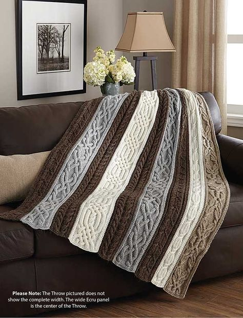 Knitting patterns classic afghans and throws to knit featuring cables and more knit (aff link)