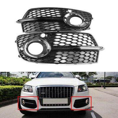 Pair Fit For Audi Q5 S Line Front Lower Bumper Grille Fog Light Cover 13 16 Ebay Audi Q5 Light Covers Audi