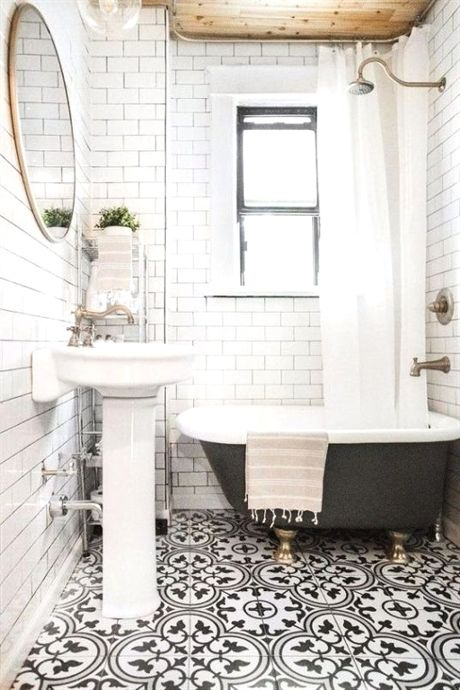 15 Awesome Tile Ideas For Your Bathroom Bathroom Inspiration Gorgeous Bathroom Black White Bathrooms