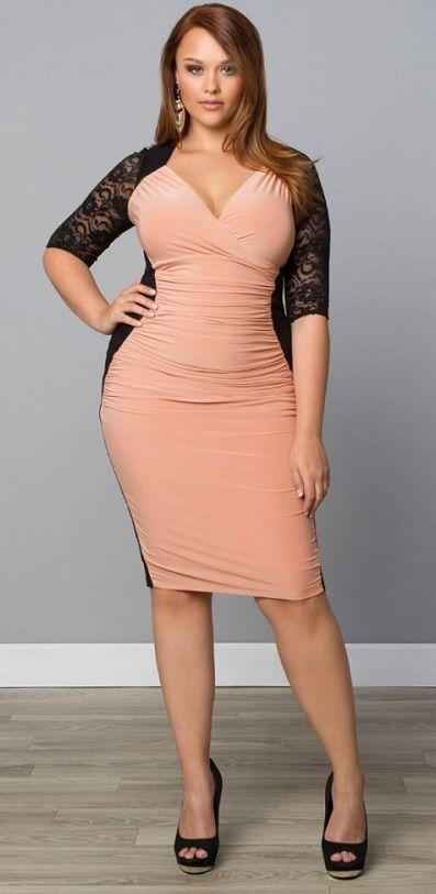 Plus Size Valentina Illusion Dress- Black/Blush No matter your ...