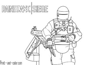 Rainbow Six Siege Coloring Pages Rainbow Free Coloring Pages