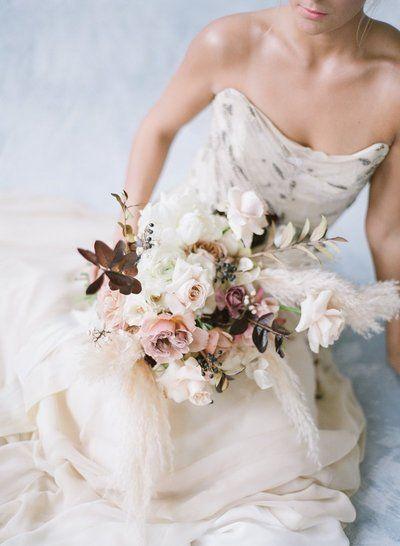 Ivory Rose And Blush Wedding Flowers Winter Wedding Inspiration