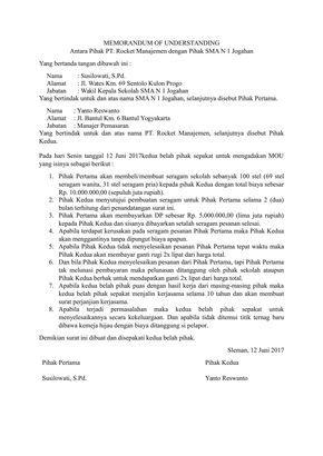 Download Contoh Surat Mou Untuk Berbagai Keperluan Kepala Sekolah Proposal Sma