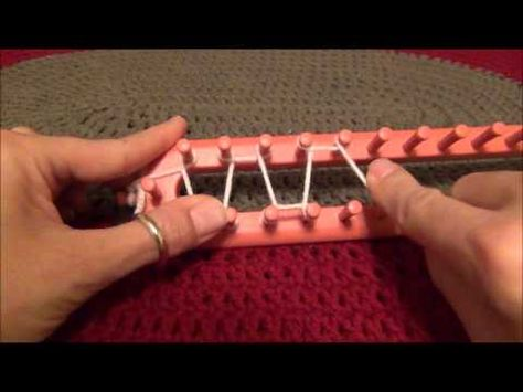 Double Ribbing Stitch on the Knifty Knitter Loom