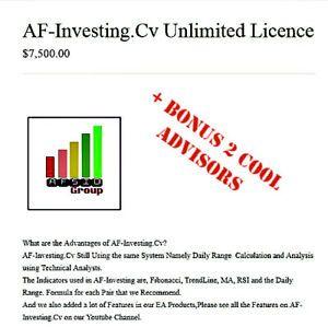Forex Robot Af Investing Cv Unlimited License 2019 Original Bonus