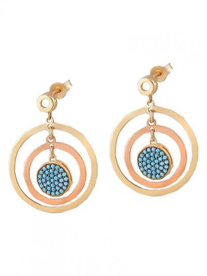 حلق ذهب عيار 18 خصم 15 على المصنعية Jewelry Jewelrymaking Love Women Gold Goldjewellery Keychain Personalized Items Items
