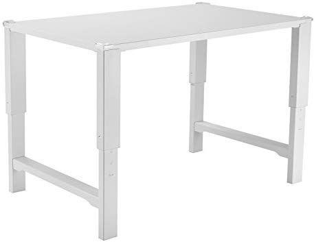 Amazon Com Vivo White Height Adjustable Desk For Children Kids Smart Interactive Ergonomic Adjustable Height Desk Childrens Desk And Chair Work Station Desk