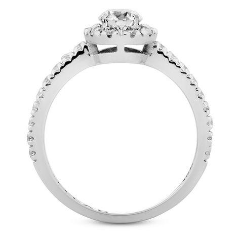 Solitario Em Ouro Branco E Diamante De 50 Pontos Linha Forever