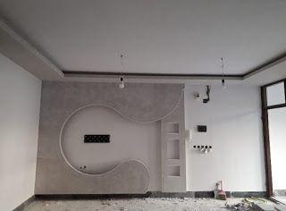 ديكور جبس للشاشه جبس بورد ديكورات جبس جبس ديكورات شاشات بلازما على الحائط Bathroom Mirror Lighted Bathroom Mirror Bathroom Lighting