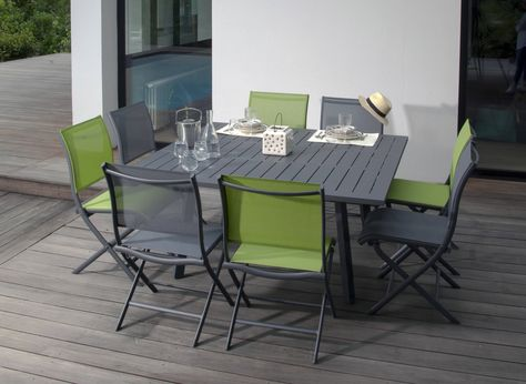 Table de jardin rectangle pour 10 couverts Barcelona Océo ...