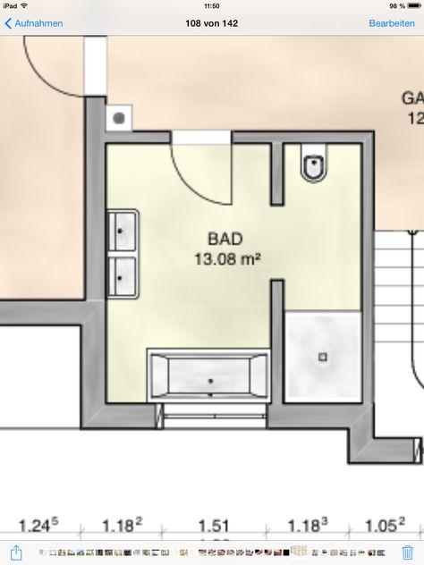 Grundriss Badezimmer OG Unser Badezimmer OG Pinterest