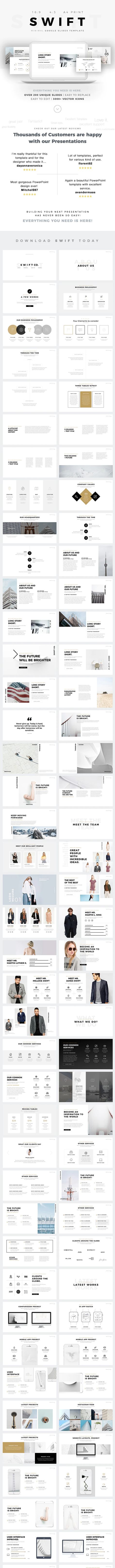 Swift Minimal Google Slides Template Preview